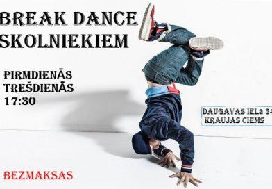 BREAK DANCE  pulciņā uzņem jaunus dalībniekus