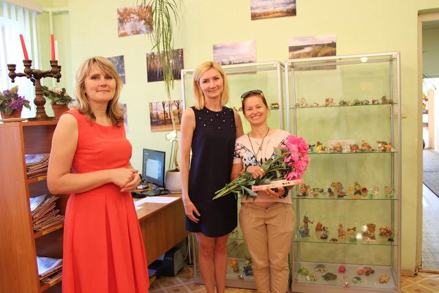 Tatjanas Šeršņovas bruņurupuču figūriņu izstādes atklāšana