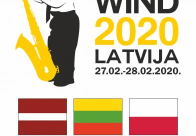 """IZSKANĒJA IV Starptautiskais pūšaminstrumentu spēles jauno izpildītāju konkurss """"Naujene WIND 2020"""""""