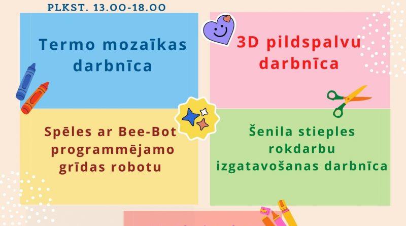 """""""BIBLIOVASARAS 2021"""" nodarbības bērniem un jauniešiem"""